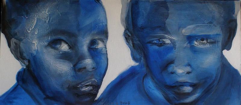 portrait acrylique toile